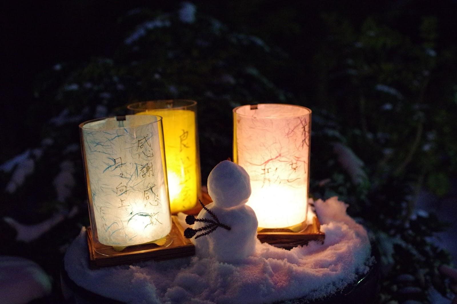 雪だるま 灯籠